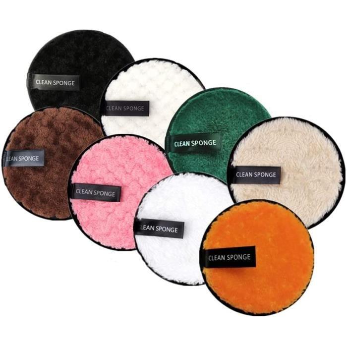Outils et accessoires 8 Pcs Coton Demaquillant Lavable,Tampons Démaquillants Biologique,Éponge Démaquillage Réutilisable 21746