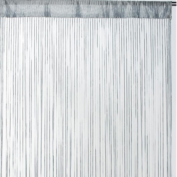 Rideau fils uni - Gris - 90cm x 2cm