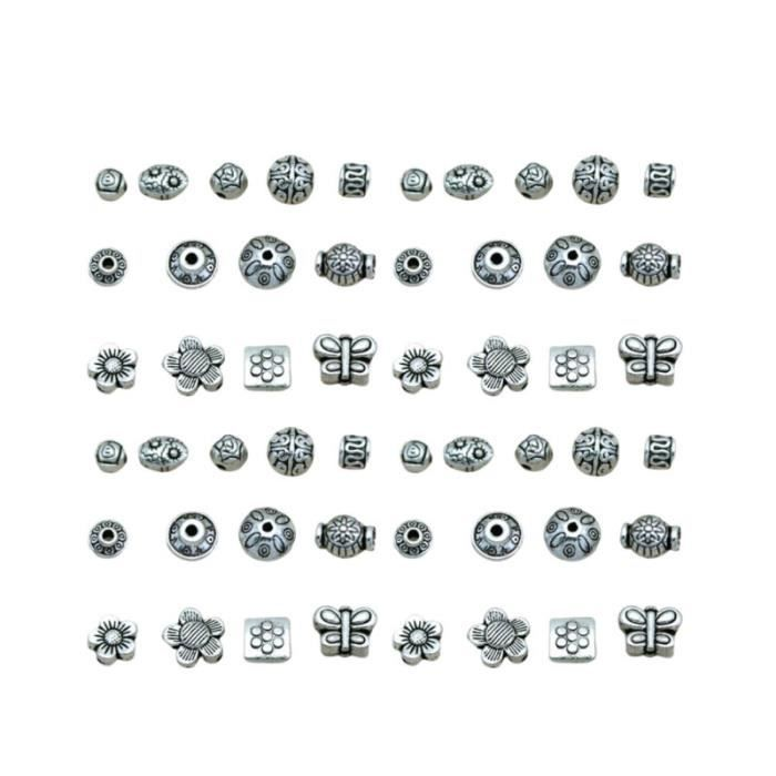 65 pièces alliage perle Portable petit charme perles d'espacement bricolage pendentif fabrication de BRACELET - GOURMETTE - JONC