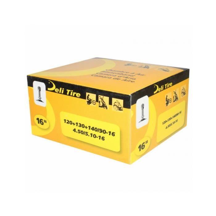 Chambre a air 16'' 120-90-16 a 140-90-16 , 4.50 a 5.10-16 deli valve tr4