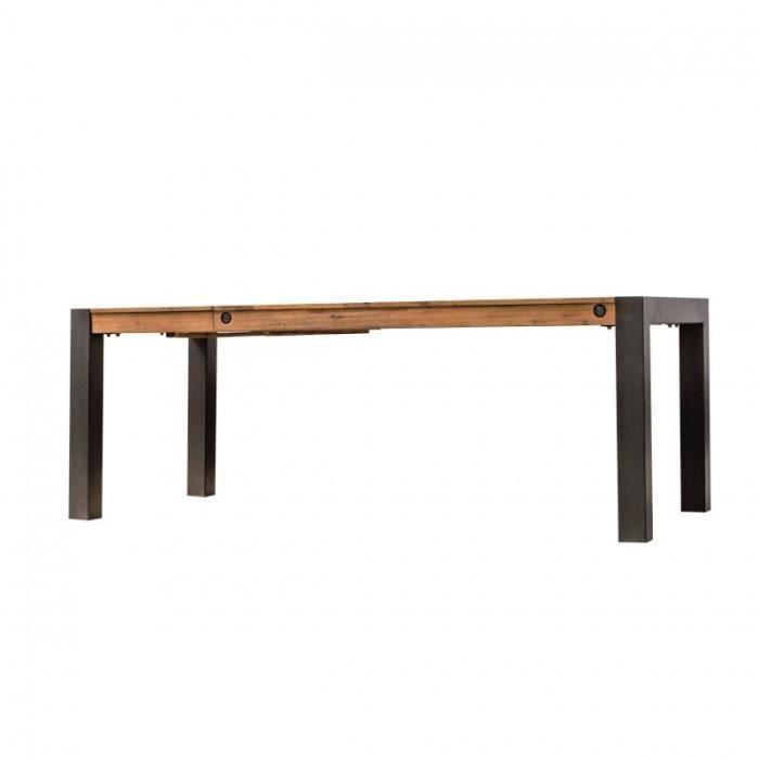 Table repas extensible en acacia – WORKSHOP