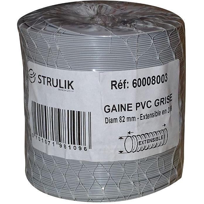 AUTOGYRE - Gaine souple PVC filet Ø80mm 3ml