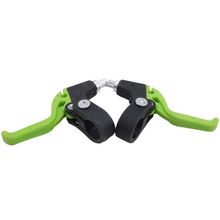Pièce Détachée,Une paire de poignée de frein de vélo de route de montagne levier de frein de chariot de bébé - Type black green