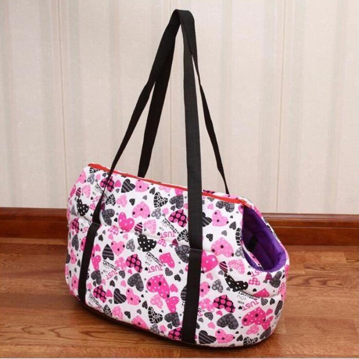 Sac de transport,Abrrlo sac à dos pour chien Sac classique pour petit chien, Chihuahua, sac à dos confort - Type pink heart-S