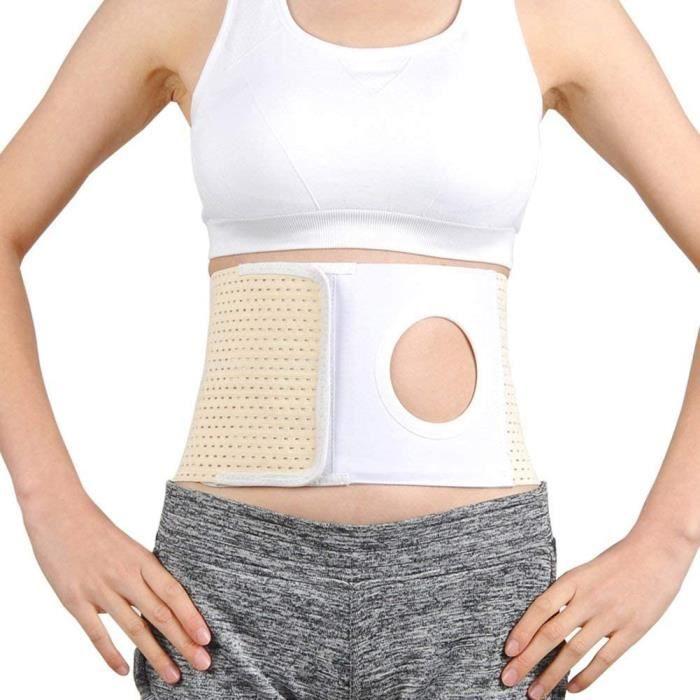 Ceinture de soutien pour la stomie, soutien du ventre &eacutelastique pour hernie, sac de colomie, ceinture abdominale avec ouv36
