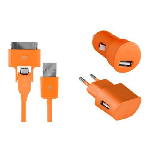 Pack charge 3 en 1 Colorblock orange pour iPhon…