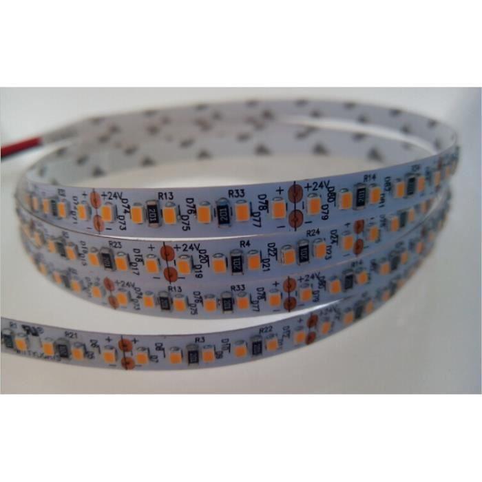 Ruban LED Blanc 120 LED/m 9W/m - Teinte de lumière:Blanc Froid (6000K) Longueur:5m