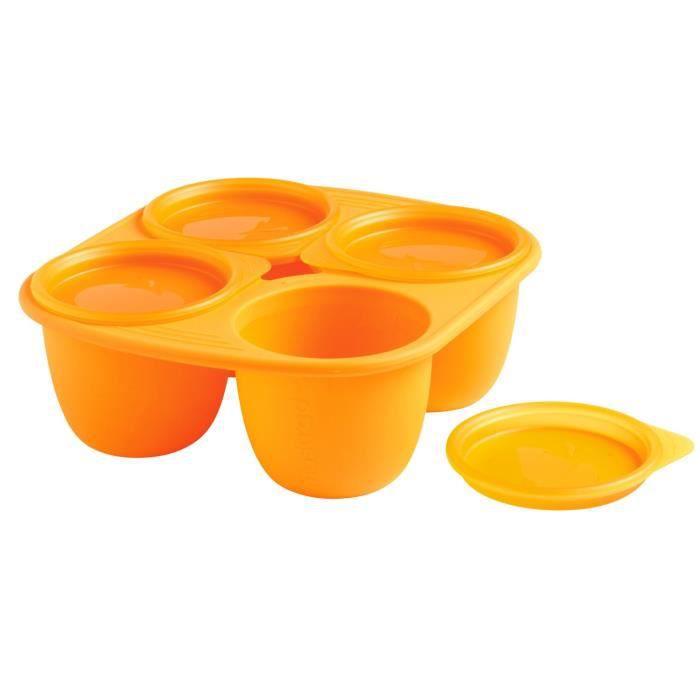MASTRAD BABY Babymoule 4 Portions 280 ml - Orange