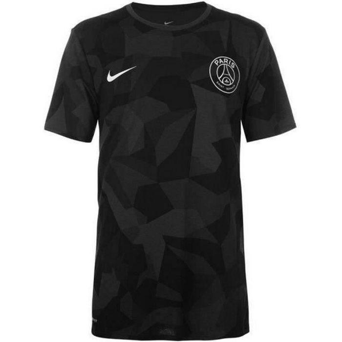 Tee Shirt Officiel d'Entrainement Noir Homme PSG Paris Saint-Germain Taille M