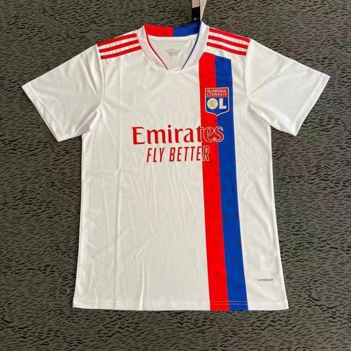 T-Shirt de l'équipe de OL , Maillot de Formation Lyon ,Maillot domicile Adulte 21-22 - Pas de numéro