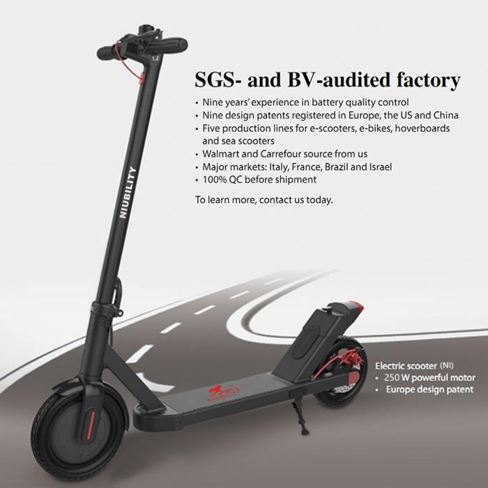 Niubility N1 Trottinette électrique Scooter électrique 8.5'' - 250W- en alliage d'aluminium 25 km / h,Charge: maiximale 120 kg