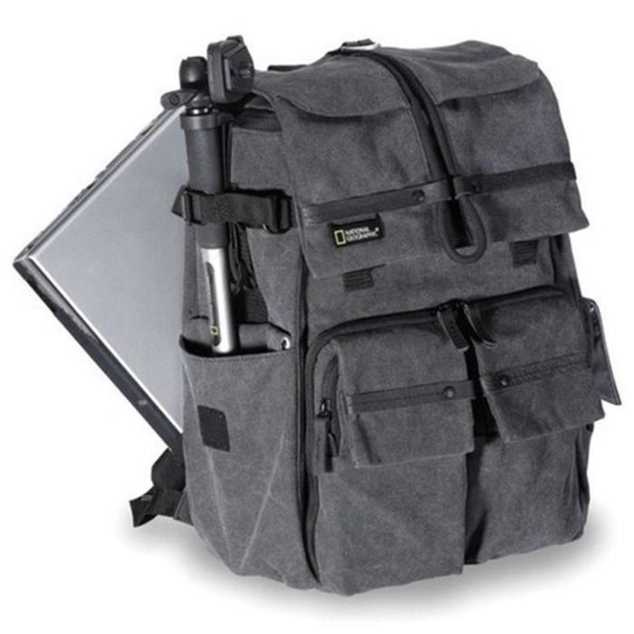 Sac à dos pour appareil photo Sac à bandoulière National Geographic Walkabout à double épaule Sac à dos pour appareil photo DSLR Sac