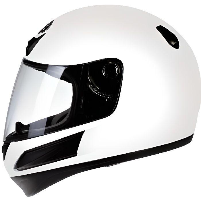 Casque intégral de moto blanc pour enfant Torx Taille S modèle Bobby white neuf