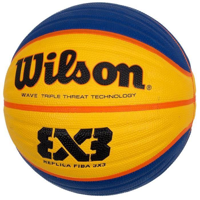 Ballon de basket 3 par 3 replica taille 6 - Wilson UNI Jaune