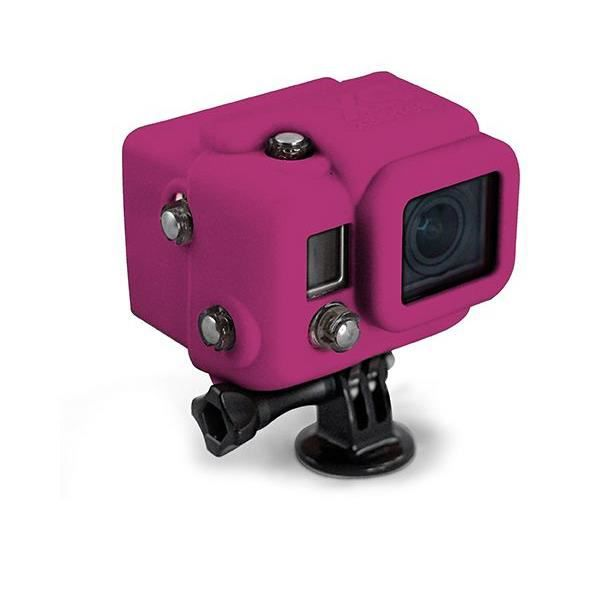 XSORIES Housse en silicone avec Capuche pour GoPro HD Hero3 - Magenta