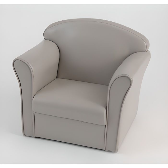 fauteuil enfant club taupe gris amadeus achat vente fauteuil cdiscount. Black Bedroom Furniture Sets. Home Design Ideas