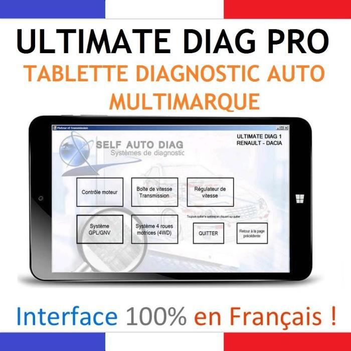 ultimate diag one tablette pc diagnostic auto multimarques autocom delphi vag achat vente. Black Bedroom Furniture Sets. Home Design Ideas