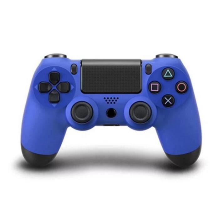 MANETTE JEUX VIDÉO  Manette PS4 Sans fil  Bluetooth Vibration Bleu V2