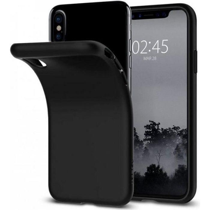 iphone x iphone 10 coque silicone noir gel tpu