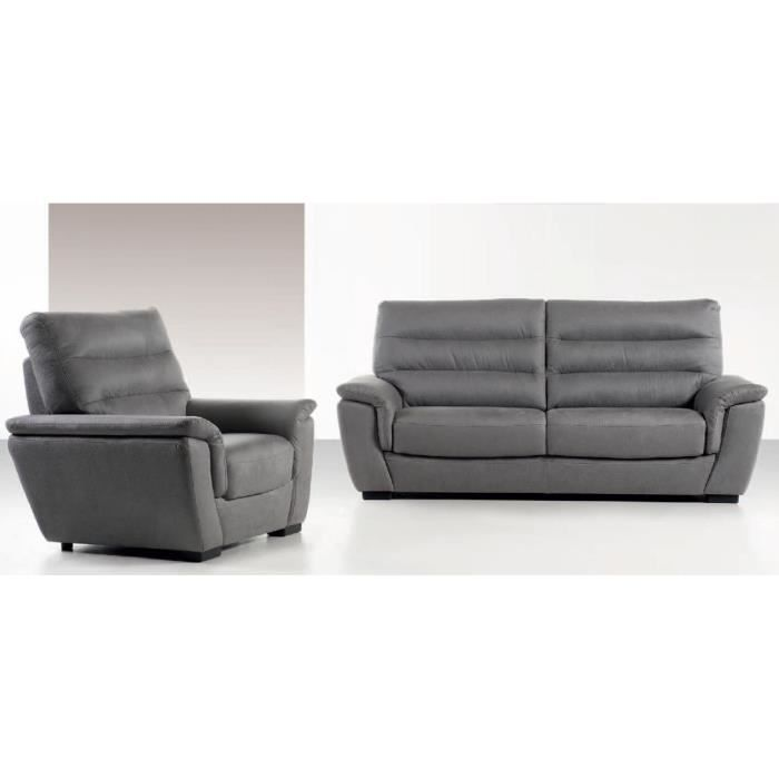 canap 3 places microfibre campagna achat vente canap sofa divan cdiscount. Black Bedroom Furniture Sets. Home Design Ideas