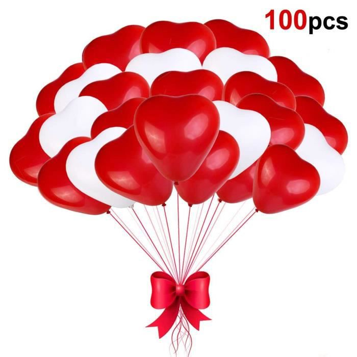 Sinwind Ballon Coeur Rouge Blanc Ballon Helium Coeur Ballon En Forme Coeur Latex Pour Mariage Anniversaire Saint Valentin 2935 Achat Vente Ballon Décoratif Soldes Sur Cdiscount Dès Le 20 Janvier Cdiscount