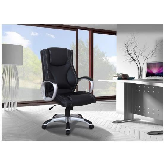 si ge de bureau design blake noir achat vente chaise de bureau noir cdiscount. Black Bedroom Furniture Sets. Home Design Ideas