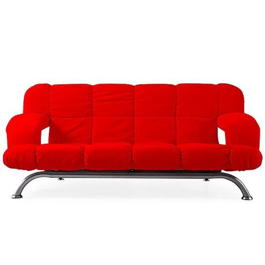 Convertible design via rouge canap clic clac achat - Canape clic clac rouge ...