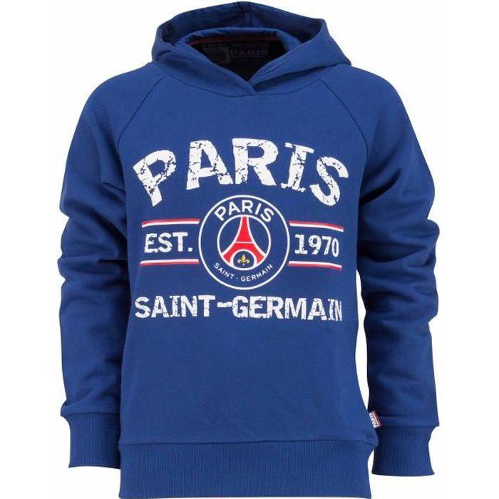 PARIS SAINT-GERMAIN Veste Sweat zipp/é /à Capuche PSG Collection Officielle Taille Enfant