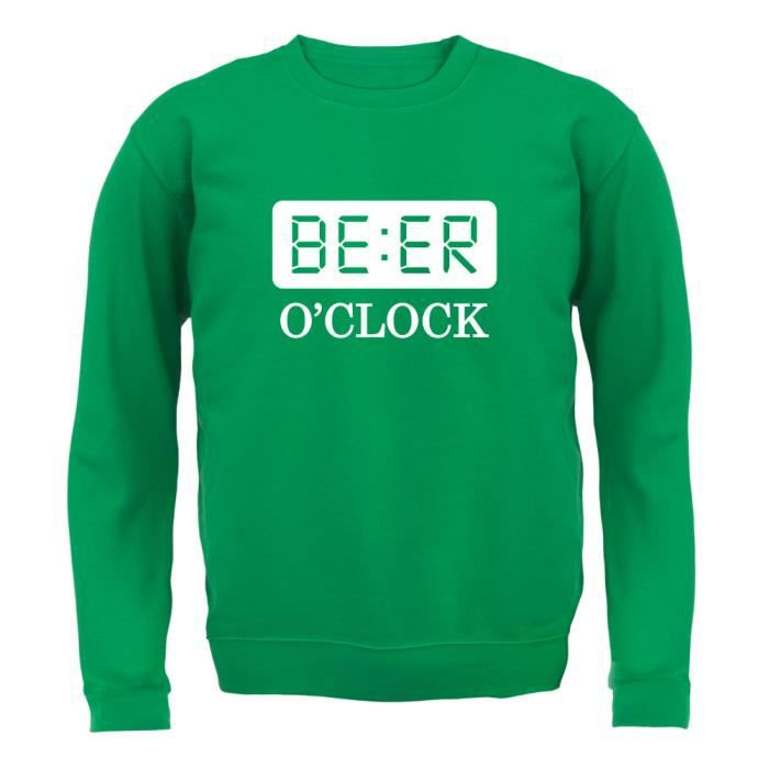 Dressdown - Beer O Clock - Enfant Sweat - Vert - XXL (12-13 ans ... 9f4df10420e