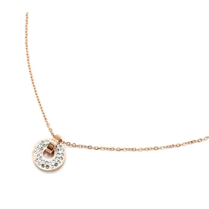 collier or avec pendentif anneau