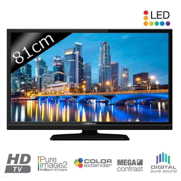 thomson 32hu3253 tv led hd 81cm 32 t l viseur led avis et prix pas cher cdiscount. Black Bedroom Furniture Sets. Home Design Ideas