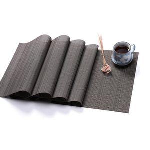 CHEMIN DE TABLE PVC Chemin de table en texture bambou de couleur u