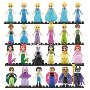 FIGURINE - PERSONNAGE LOT DE 24 FIGURINES DISNEY PRINCESSES ELSA RAIPONC