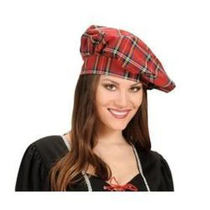 CHAPEAU - PERRUQUE Chapeau écossais tissu
