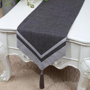 RYC Chemin de Table Linge de Table Nappe En Lin Qualité Art Table Moderne Décorations de Noël Décorations de Saison Maison Mariage 33x150cm YBX