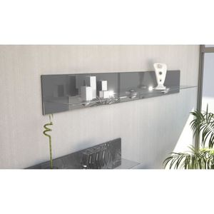 etagere murale blanc laque achat vente etagere murale. Black Bedroom Furniture Sets. Home Design Ideas