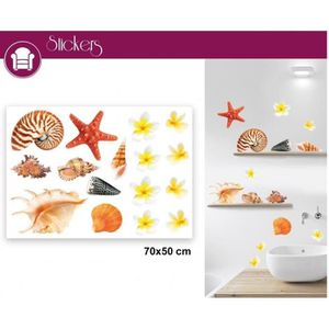 Stickers Repositionnables Coquillages