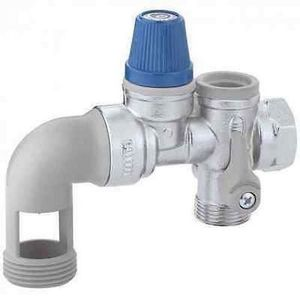 3//4 Groupe de S/écurit/é laiton NF 20//27 SOMATHERM FOR YOU Organe de s/écurit/é obligatoire pour les chauffe-eaux. pour /éviter les surpressions dans le chauffe-eau avec une garde dair droite
