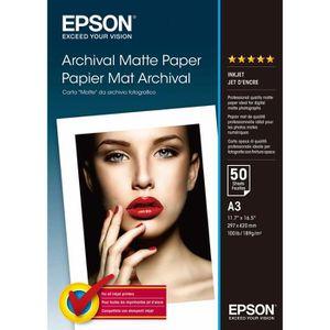 CARTOUCHE IMPRIMANTE EPSON Pack de 1 Archival papier mat - A3 - 50 feui