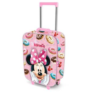 VALISE - BAGAGE KARACTERMANIA - Valise cabine Rose 3D MINNIE DOUGH