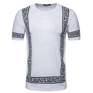 T-SHIRT Tee Shirt Homme Imprimée Casual T-Shirt Manches Co