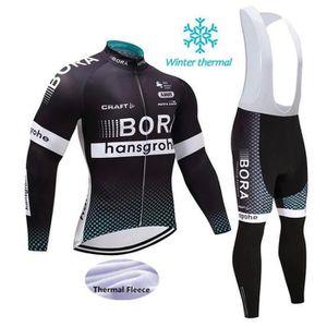 TENUE DE CYCLISME BORA  Hiver Maillot de Cyclisme Homme Thermique Fl