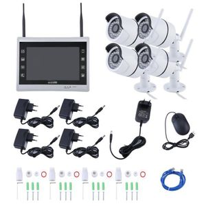 CAMÉRA DE SURVEILLANCE CCTV DVR Kit Professionnel 4CH Sans fil + 1.3MP 96