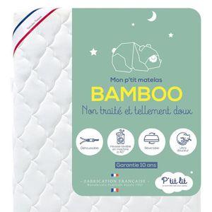 MATELAS BÉBÉ P'tit Lit -  Matelas Bébé Bamboo  - 60x120  cm - V