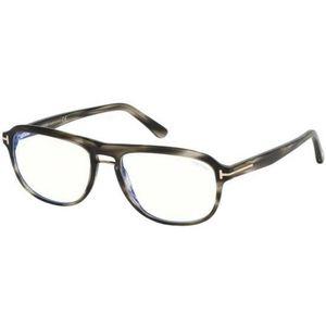 LUNETTES DE VUE Lunettes de Vue Tom Ford FT 5538-B BLUE BLOCK GREY