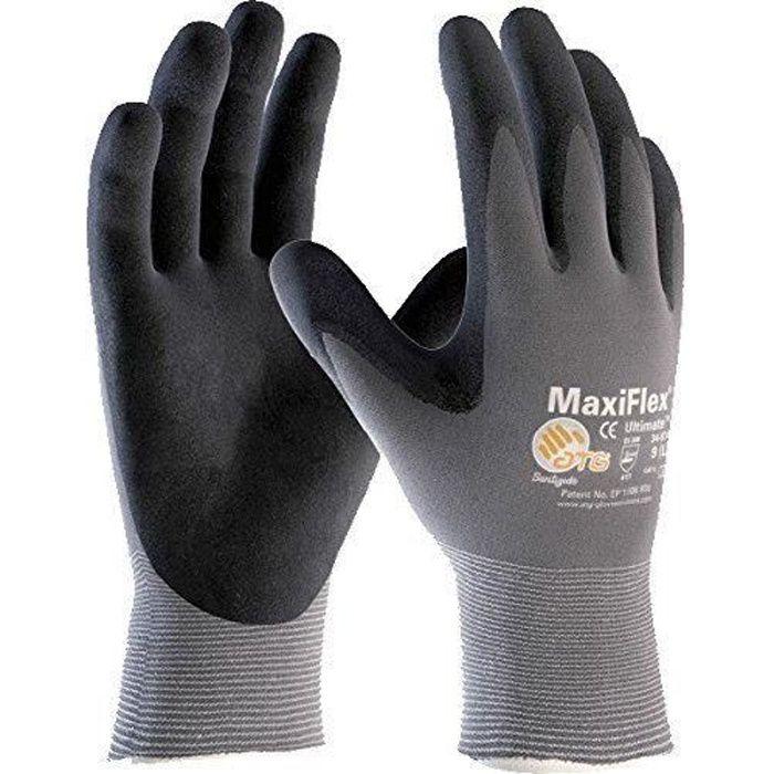 ATG 34784-09B Maxiflex Ultimate Gants pour manipulation de précision en environnements secs Taille L