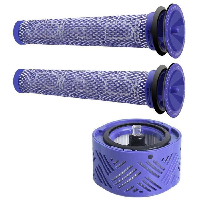 Kit de Filtre de Rechange, Post-moteur Filtre HEPA V6 + Filtre d'Aspirateur pour Dyson V6 Range, Accessoire d'Aspirateur