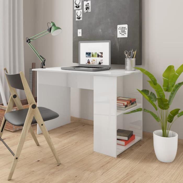 WIPES Bureau Blanc brillant 110x60x73 cm Aggloméré