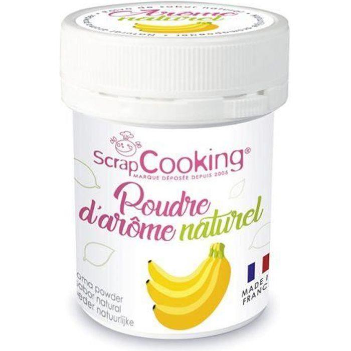 Arôme naturel de banane Vous allez désormais pouvoir parfumer vos gâteaux et toutes vos pâtisseries grâce à la nouvelle gamme de