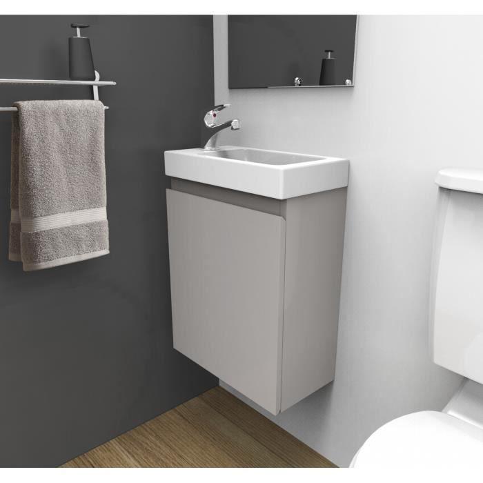Meuble Lave-mains Gris Sable L41 X H53 Lisa